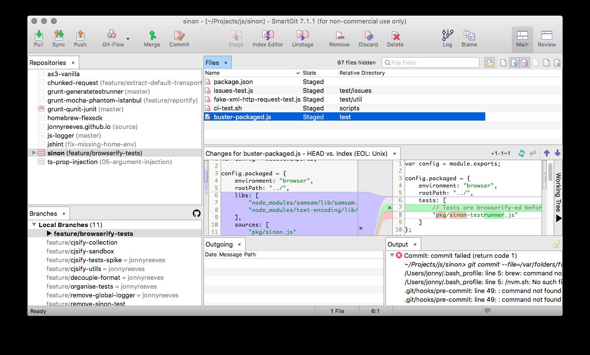 SmartGit diff tool